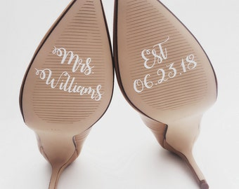 Personalized Wedding Shoe Decals