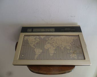 Seiko world clock desk top vintage w/ free ship