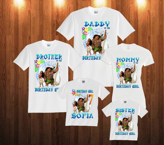 Moana Personalized Family Shirts