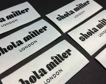 100 clothing labels, high-density woven label, woven labels custom