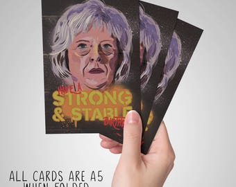 Theresa May - Strong and Stable UK Election Birthday Card