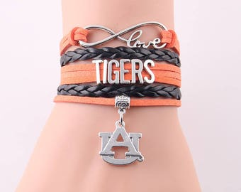 Auburn Tigers Love Friendship Charm Bracelet
