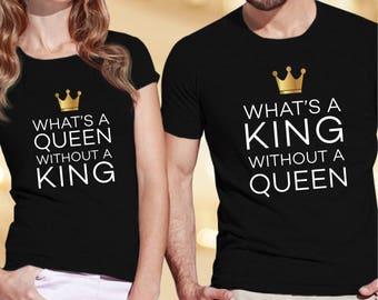 Husband and wife shirts / anniversary t shirt / king queen shirts / couple shirts / his and hers shirts / matching shirts / couple t shirts