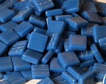 12mm Square Mosaic Tiles - Kingfisher Blue Gloss - 50g