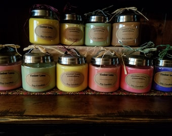 Spring/Summer Collection, 16 oz. Soy Candle, Apothecary Jar, Handmade, Iced Tea, Grass, Popsicle, BBQ, Tropical