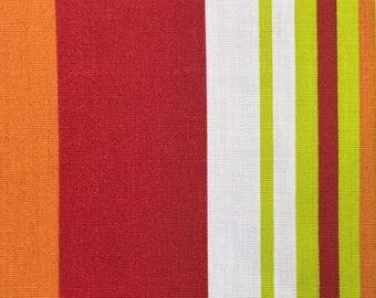 Pinwheel Stripe Tangerine (Outdoor Fabric By The Yard)