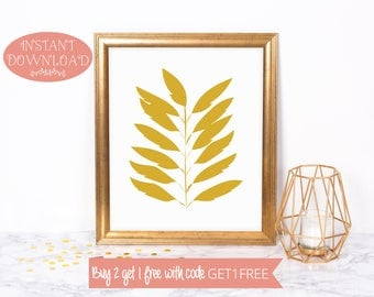 Printable Wall Art, Wall Art Prints, Minimalist Print, Instant Download, Digital Print, Modern Art, Scandinavian Print, Leaves Print, Prints
