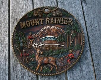 Vintage Mt. Rainier Souvenir Plate