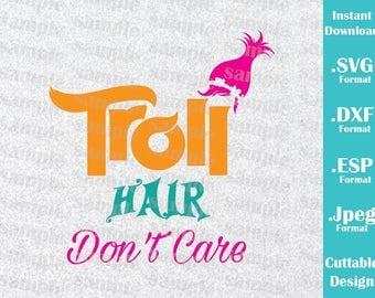 INSTANT DOWNLOAD Svg Trolls Princess Poppy Troll Hair Movie Inspired Birthday Cutting Machines Svg, Esp, Dxf, Jpeg Format Cricut Silhouette