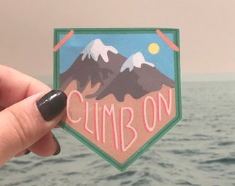 Climb On Sticker