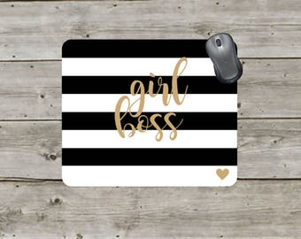 girl boss   Mouse pad   custom mouse pad   Office Accessories   Office Gift   Boss lady