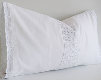 White lace pillow Etsy