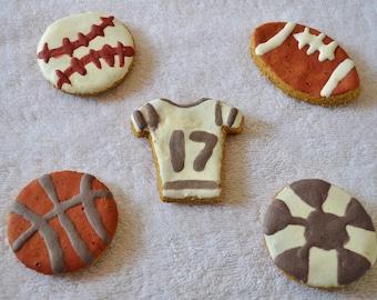Dante's Sports Fanatic Cookies /Healthy Dog Treats /Dog Cookies /Organic Dog Treats /Organic Dog Bakery /Sports Cookies /Dog Birthday