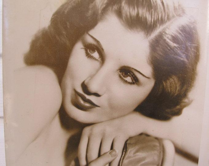 Art Deco photograph Sally O'Neil, Original period pinup portrait, vintage sexy silent movie era studio photograph, 1920-1930s