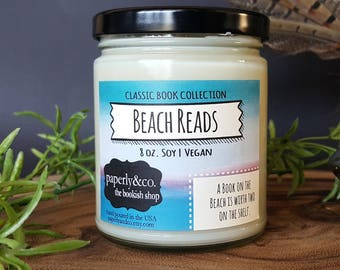LARGE Beach Reads 8 oz. Soy Candle