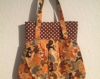 Handmade Shoulder Fabric Bag Squirrels
