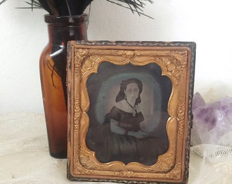 Antique tintype photograph from the 1800's