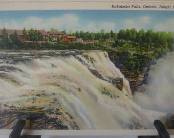 Vintage Post Card Postcard, Kakabeka Falls, Ontario, Canada. Unmailed. Great color