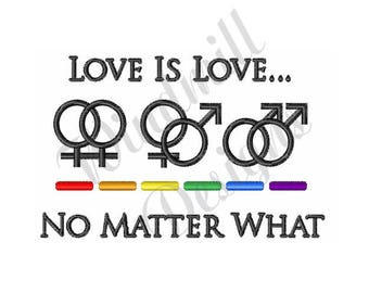 Love Is Love - Machine Embroidery Design