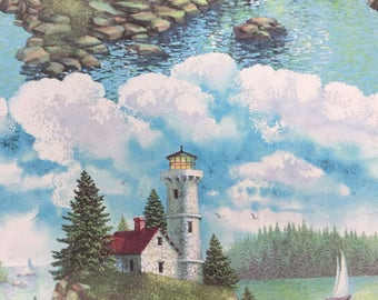 Vintage Lighthouse Gift Wrap