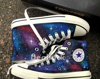 Custom Design Hand Painted Shoes Galaxy Converse Chuck Taylor Men Women High Top Canvas Sneakers Unique Gifts