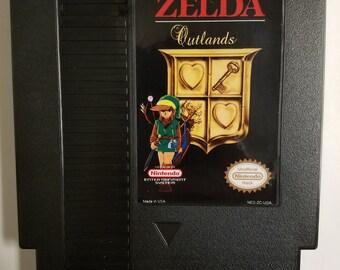 Legend of Zelda - Outlands (NES) Fan Hack Cartridge w/ Dust Sleeve