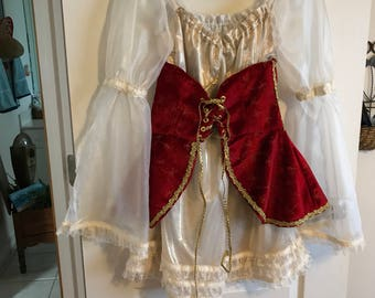 Pirate wench dress and corset