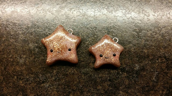Kawaii Glitter Star Charm