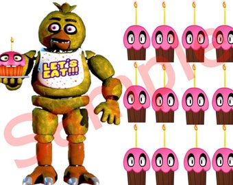FNAF Chica Game Pin the Cupcake