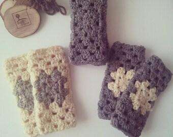 Gunati bicolor organic wool warmer with contrast certified
