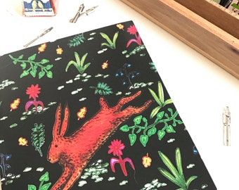 A5 Hopping Hare Notebook