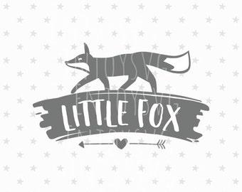 Little Fox SVG Little Fox Svg File Baby Svg File Baby Fox Svg Baby Svg Fox SVG Cricut File Silhouette Cut File T-Shirt Design Newborn svg