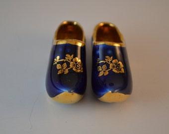 Limoges mini cobalt blue clogs/shoes