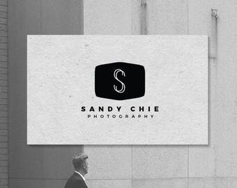 Modern Monogram Photography Logo. Minimal Logo. Photographers. Corporate Logo. Premade Logo. P08.