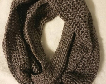 Sparkle Taupe Infinity Scarf