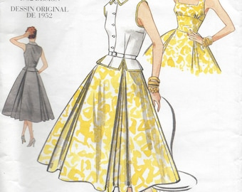 "1952 Vintage VOGUE Sewing Pattern DRESS-TOP B34""-36""-38"" (R405) Vogue 2561"