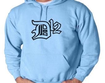 D-12 Logo Hoodie Classic Vintage Style Hip Hop Fleece Sweatshirt Eminem Slim Shady Detroit Music Dirty Dozen Rap God