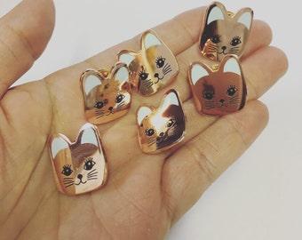Cat-face Enamel Pin
