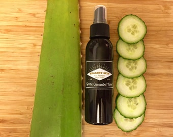 Cucumber Tonic for sensitive dehydrated skin - All Natural Skincare - Helps with rosacea and redness relief
