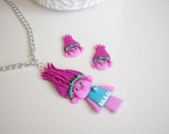 Fimo handmade set inspired by Trolls