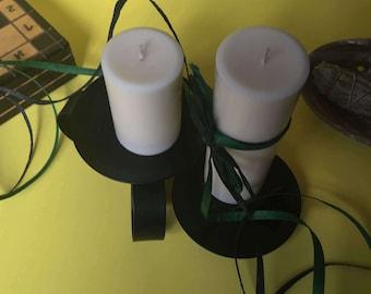 Vanilla Scented Soy Wax Pillar Candles
