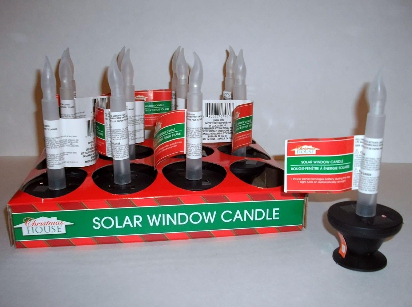 Solar Flicker Candles Set Of 2 Window Light Christmas Diy Art