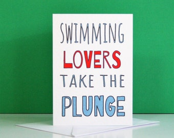Swimming Lovers Card, printable card about swimming, funny swimming card, swimming lovers downloable card,