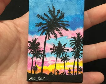 Miniature Tropical Sunset