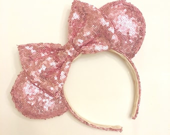 Fuchsia Pink Sequin Minnie Ears