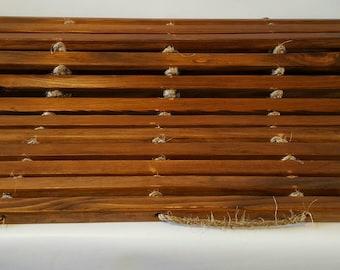 Meditation Mat, Roll Up Ceder Mat, Bathroom Mat, Wooden Bathroom Mat, Bedside Runner, Cedar Mat, Kitchen Mat, Bath Mat, Wooden Mat