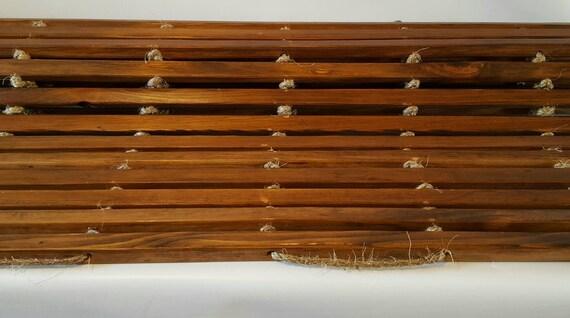 Roll Up Ceder Bathroom Mat/ Bathroom Mat/ Wooden Bathroom Mat/ Bedside Runner/ Bathroom Mat/ Kitchen Mat/ Bath Mat/ Wooden Mat