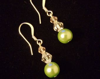 Mint Green Faux Pearl Dangle