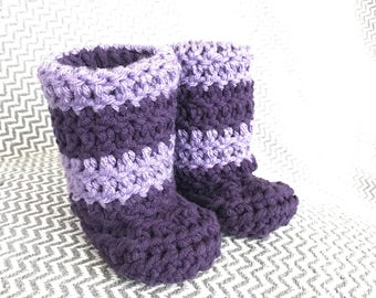 Baby booties - toddler booties - boots - baby slippers - crochet booties