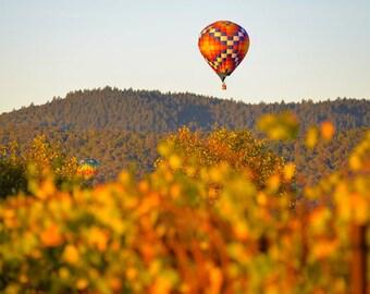 Hot Air Balloons, Hot Air Balloon, Sunrise Photography, Napa Valley, Striped Hot Air Balloons, Hot Air Balloon Napa Valley, Napa Valley Art